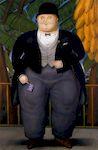 Ботеро - Английский посол 1987г, картина