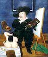 Ботеро - Автопортрет в костюме Веласкеса 1986г, картина
