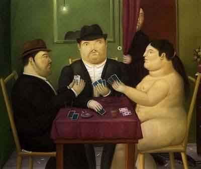 Fernando Botero - Playing cards, picture