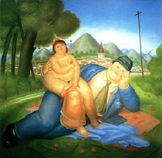 Fernando Botero - Love couple, picture