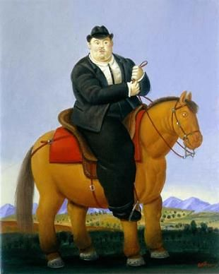 Fernando Botero - Man on a horse, 1998, picture