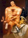 Ботеро - Мужская модель в студии 1972г, картина