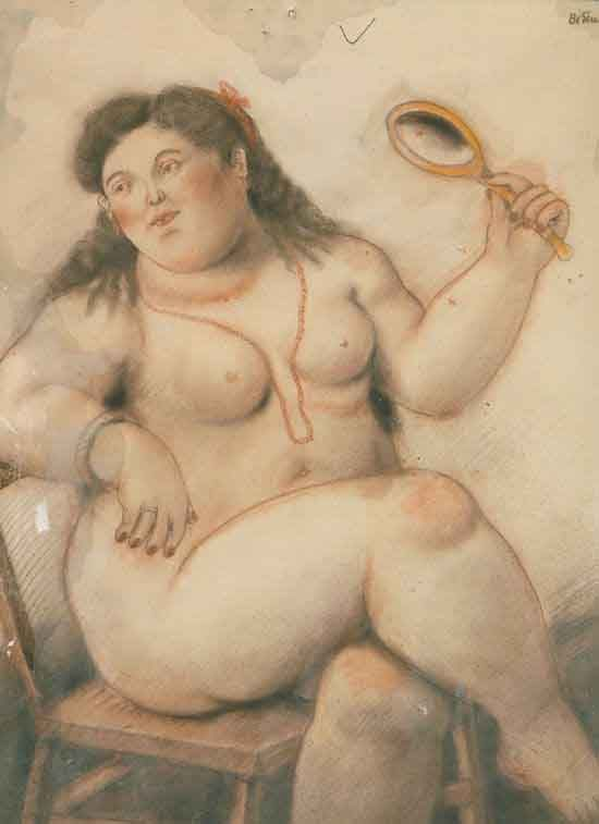 Fernando Botero - Nude with the necklace, picture
