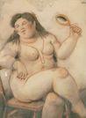 Ботеро - Обнаженная с ожерельем, картина