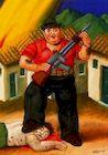 Ботеро - Охотник 1999г, картина