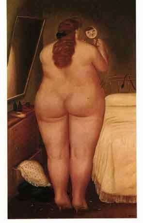 Fernando Botero - Before the mirror, picture