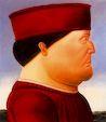 Ботеро - Подражание Пьеро Делла Франческа 1988г, картина