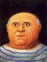 Ботеро - Портрет П.Пикассо 1999г, картина