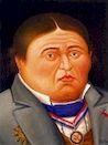 Ботеро - Портрет Ж.Энгра 1999г, картина