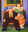 Ботеро - Колумбийская семья 1999г, картина