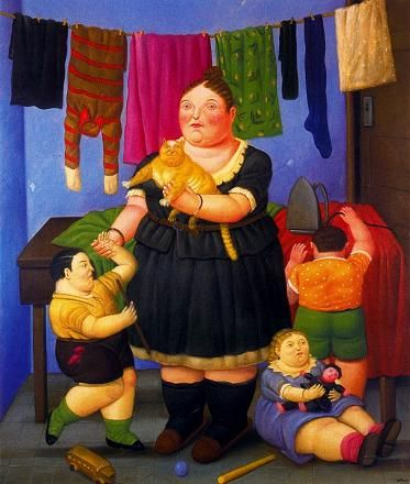 Fernando Botero - Widow of 1997, picture